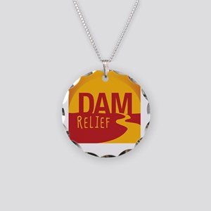A Dam Relief (with fb addres Necklace Circle Charm