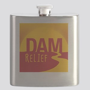 A Dam Relief (with fb address) Flask