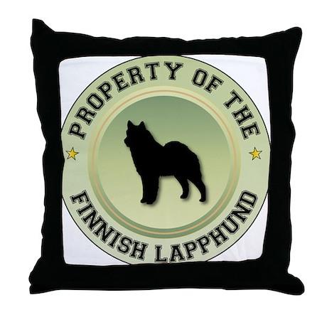 Lapphund Property Throw Pillow