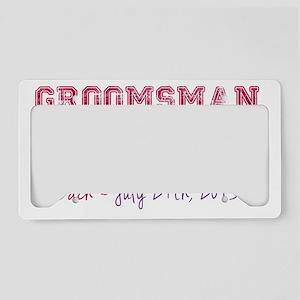 Groomsman-Zach License Plate Holder