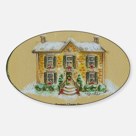 Rosemary Clooney House Color Pencil Sticker (Oval)