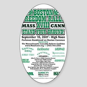 2007 Freedom Rally Back Sticker (Oval)