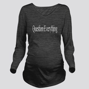 black Long Sleeve Maternity T-Shirt