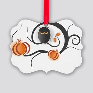 Whimsical Halloween Picture Ornament