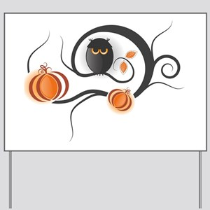 Whimsical Halloween Yard Sign