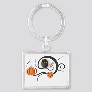 Whimsical Halloween Landscape Keychain