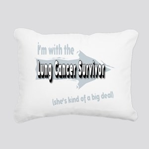 With female Lung Cancer  Rectangular Canvas Pillow