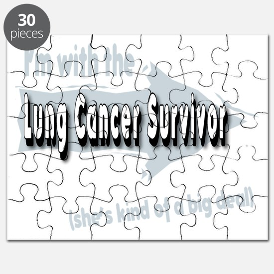 With female Lung Cancer Survivor on my left Puzzle