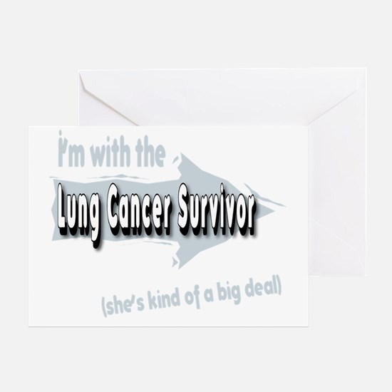 With female Lung Cancer Survivor on  Greeting Card