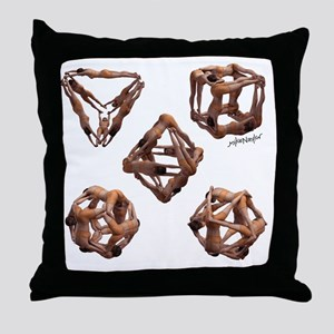 The Platonic Solids Throw Pillow