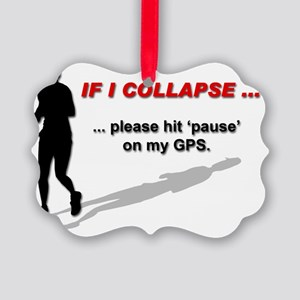 IF I COLLAPSE ... please hit paus Picture Ornament