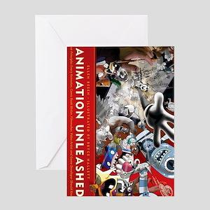 Animation Unleashed - sideways Greeting Card