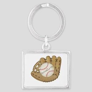 Custom Baseball Landscape Keychain