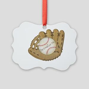 Custom Baseball Picture Ornament