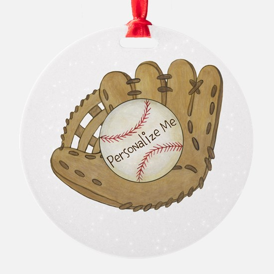 Custom Baseball Round Ornament