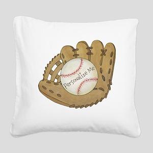 Custom Baseball Square Canvas Pillow