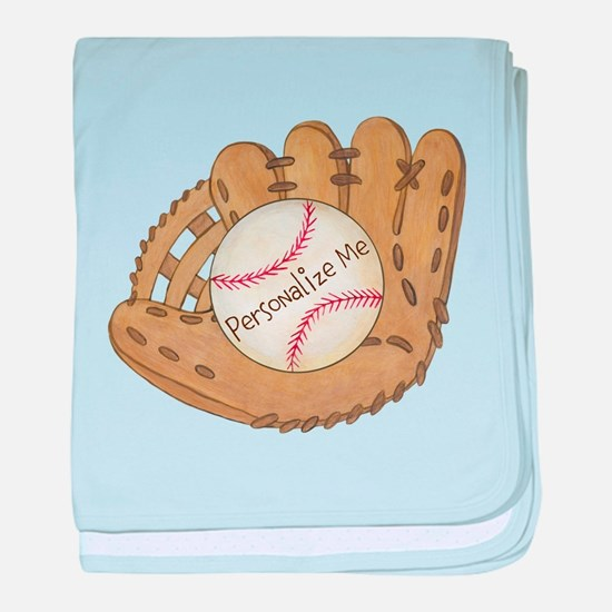 Custom Baseball baby blanket