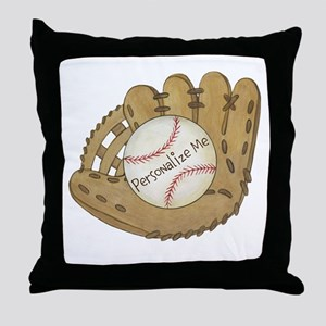 Custom Baseball Throw Pillow