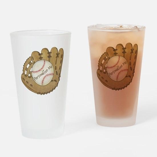 Custom Baseball Drinking Glass