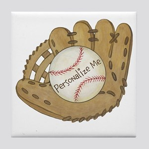 Custom Baseball Tile Coaster