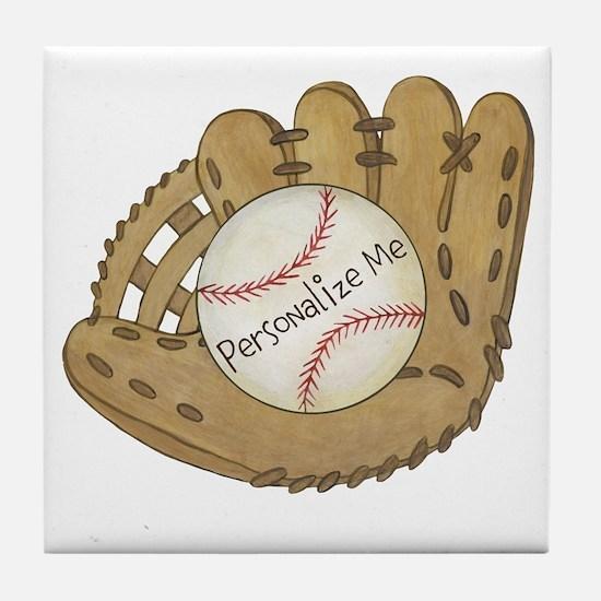 Custom Baseball Tile Coaster