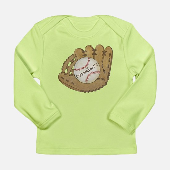 Custom Baseball Long Sleeve Infant T-Shirt