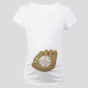 Custom Baseball Maternity T-Shirt