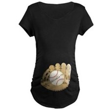 Custom Baseball Maternity Dark T-Shirt