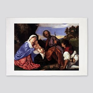 Holy Family With A Shepherd - Titian - c1510 5'x7'