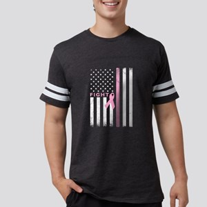 Ribbon Flag Figh Mens Football Shirt T-Shirt