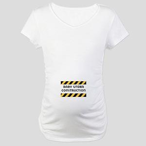 Baby Under Construction Maternity Shirt