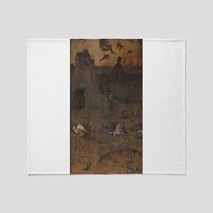 Hell - Bosch - c1514 Throw Blanket