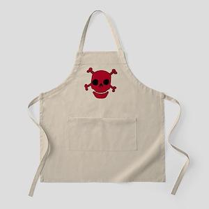 Red Skull w/ Crossbones BBQ Apron