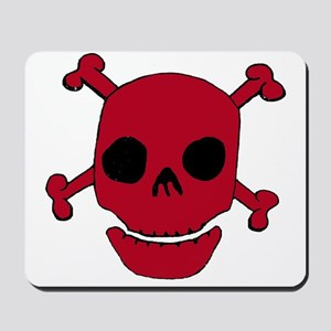 Red Skull w/ Crossbones Mousepad