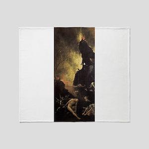 Hell - Bosch - c1490 Throw Blanket