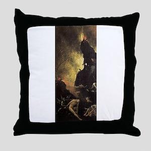 Hell - Bosch - c1490 Throw Pillow