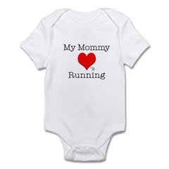 My Mommy Loves Running Infant Bodysuit