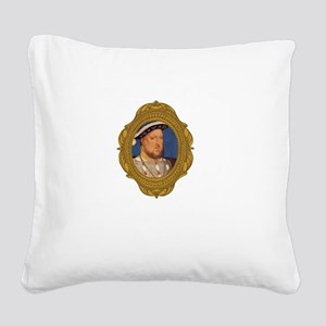 Henry VIII White Square Canvas Pillow