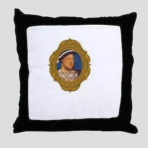 Henry VIII White Throw Pillow