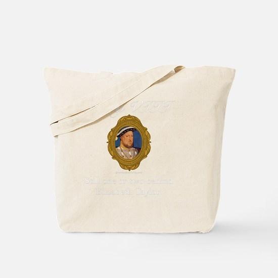 Henry VIII White Tote Bag