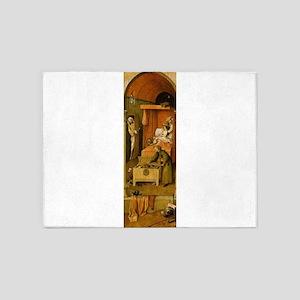 Death and the Usurer - Bosch - c1496 5'x7'Area Rug