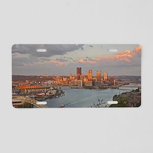 Pittsburgh Sunset Aluminum License Plate