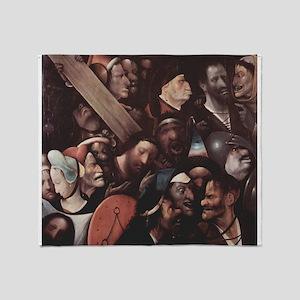 Christ Carrying the Cross 2 - Bosch - c1500 Throw