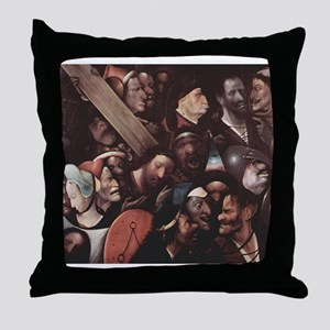 Christ Carrying the Cross 2 - Bosch - c1500 Throw