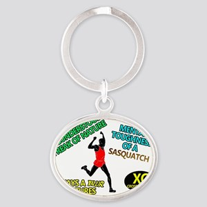 Cross Country For Life Oval Keychain