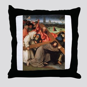 Christ Carrying the Cross - Bosch - c1492 Throw Pi
