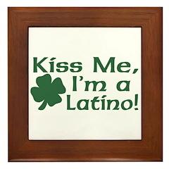 Kiss Me I'm a Latino Framed Tile