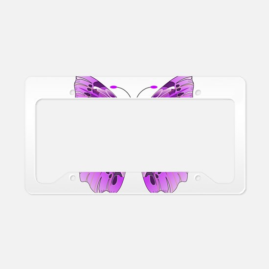 Awareness Butterfly License Plate Holder