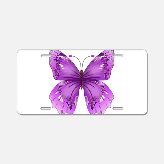 Awareness Butterfly Aluminum License Plate