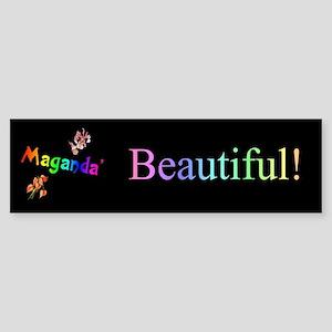 Maganda' (Beautiful) Gifts Bumper Sticker